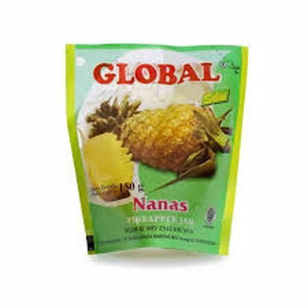 Deskripsi Global Pineapple Jam 150Gr. Selai Nanas. Terbuat Dari Buah Asli Segar, Dapat Digunakan Untuk Berbagai Macam Makanan Dan Minuman, Tersimpan Dalam Kemasan Pouch, Tersimpan Juga Dalam Kemasan Portion Yang Praktis Dan Mudah Untuk Dibawa Saat Bepergi