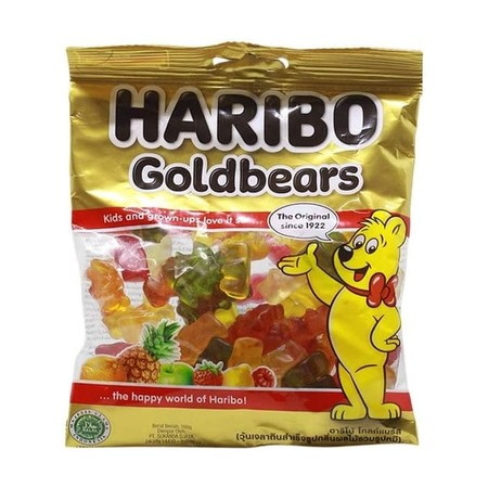 Haribo Goldbears Is The Original Gummi Bears And HariboS Number 1 In The Five Fruit Flavors Lemon, Orange, Pineapple, Raspberry And Strawberry.