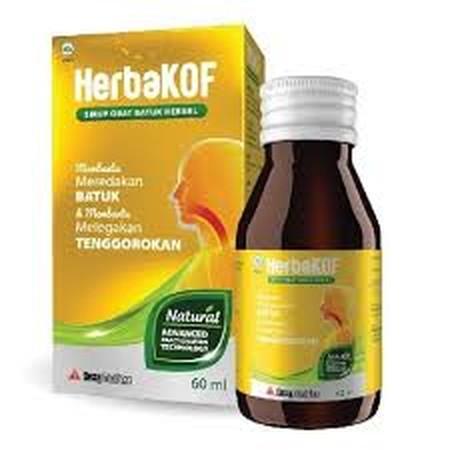 Dexa Medica Herbakof Sirup Obat Batuk [60 mL] adalah obat batuk herbal untuk membantu meredakan batuk dan membantu melegakan tenggorokan. Dapat digunakan untuk batuk kering dan batuk berdahak. Aman untuk dikonsumsi dan cepat bekerja. Komposisi :  Tiap 15