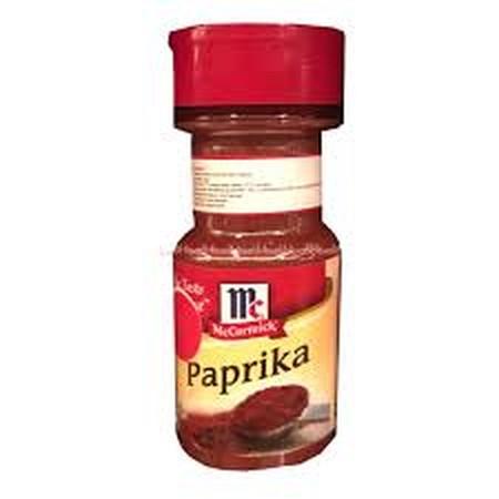 Mccormick Paprika terbuat dari Bahan Paprika Terbaik dengan pengeringan yang maximal . Mccormick Paprika memiliki rasa kaya dan warna cerah  Bisa Gunakan untuk daging , kentang , nasi , saus dan minuman . Cocok digunakan untuk Bumbu Dapur di Rumah maupun