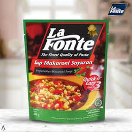 Macaroni Soup La Fonte dibuat dengan tradisi khas Italia menggunakan gandum durum pilihan yang memiliki warna kuning asli biji gandum dan tekstur yang tidak mudah hancur.