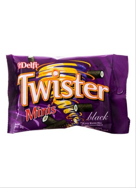 wafer renyah dengan rasa dark chocolate. Dapat dinikmati bersama teman dan keluarga.