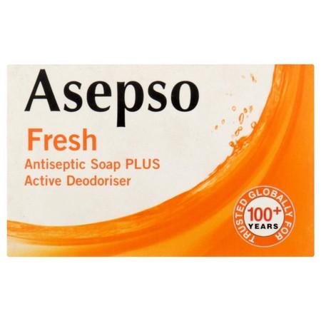 Asepso Antipseptic Fresh Soap Bar 80Gr. Membersihkan Tubuh Dengan Lebih Efektif . Membunuh Kuman Dan Menyingkirkan Bakteri.