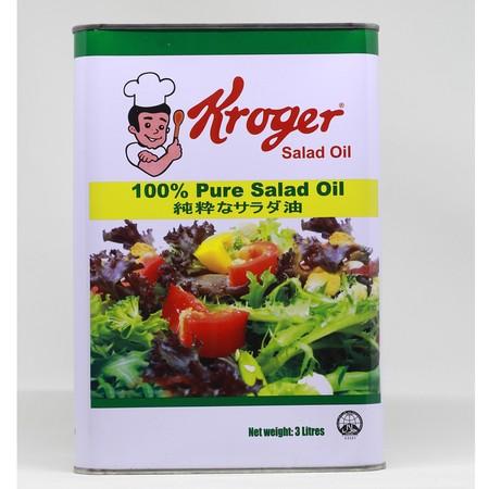 KROGER Salad Oil [3 L/ 1 pc] merupakan minyak yang diformulasikan bebas kolesterol sehingga dapat menghasilkan hidangan yang sehat bagi keluarga, serta menjaga kesehatan. Terbuat dari bahan pilihan berkualitas dan diproses secara higienis sehingga membuat