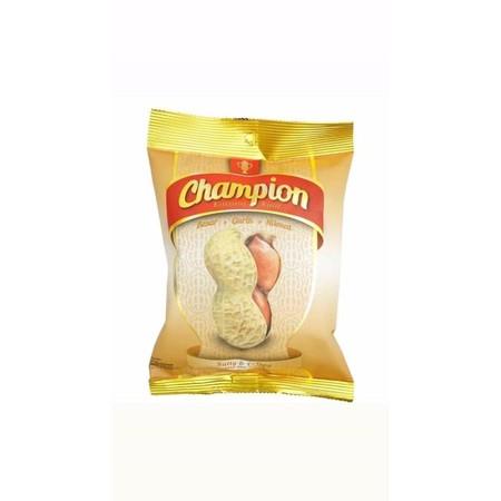 Kacang Champion, Adalah Sajian Kacang Kulit Dengan Kualitas Terbaik. Hanya Menggunakan Kacang Pilihan Sebagai Bahan Utama. Kacang Champion Berinovasi Untuk Menghadirkan Rasa Asin Yang Gurih Dan Meresap Ke Dalam Isinya, Sehingga Terasa Lebih Enak Untuk Dik