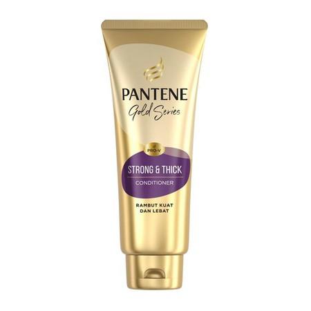 Pantene Pro-V Gold Series Strong & Thick Kondisioner 190 Ml RAMBUT KUAT DAN LEBAT Membantu rambut agar tetap kuat dan lebat dengan kilau alami Membantu menjaga kekuatan rambut sehingga rambut fleksibel dan tidak mudah patah