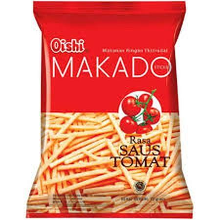 Oishi makan ringan ekstrudat sticks makado rasa saus tomat pck 70g