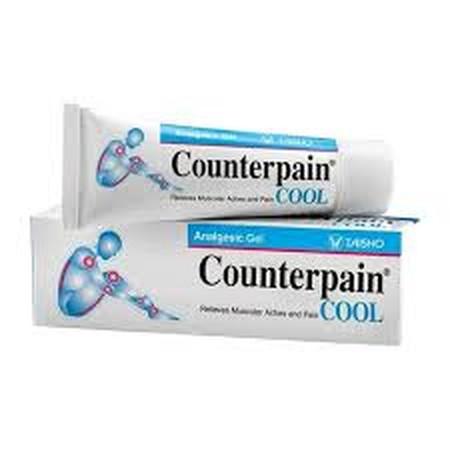 COUNTERPAIN COOL merupakan gel pereda nyeri dengan sensasi dingin untuk mengurangi rasa sakit pada otot, memar, terkilir, dan cedera pada olahraga.
