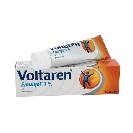 Voltaren Emulgel [50 g], emulgel yang mengandung zat non-steroid dan anti peradangan (NSAID), diklofenak. Tidak seperti pereda nyeri yang terasa dingin atau membuat panas kulit, diklofenak bekerja untuk meredakan rasa nyeri dan menurunkan tingkat peradang