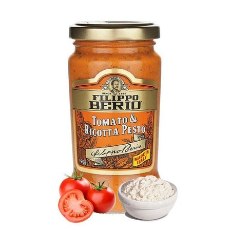 Based On An Age-Old Sicilian Recipe, This Pesto Combines The Sweetness Of Tomatoes With The Smoothness Of Ricotta Cheese And The Rich Taste Of Filippo Berio Extra Virgin Olive Oil