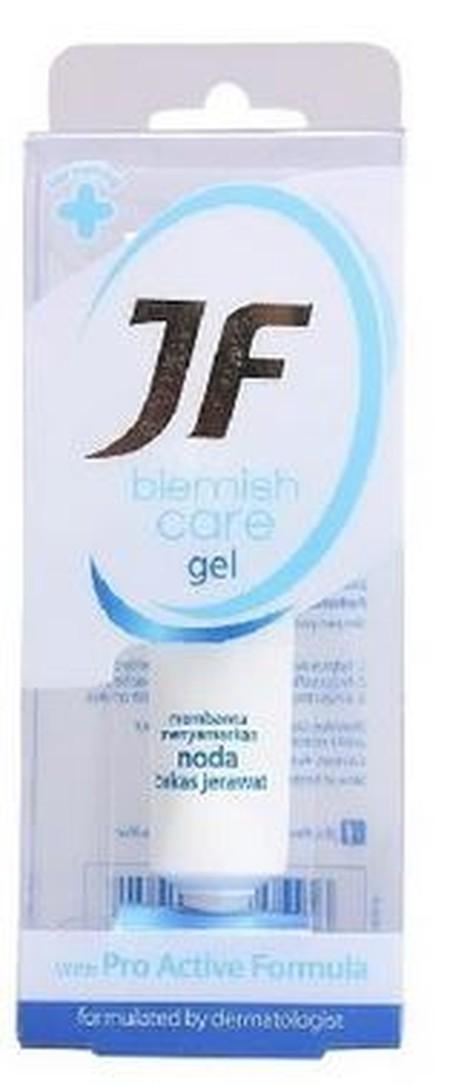 Jf Blemish Care Gel membantu menyamarkan noda bekas jerawat dengan Pro Active Formula.