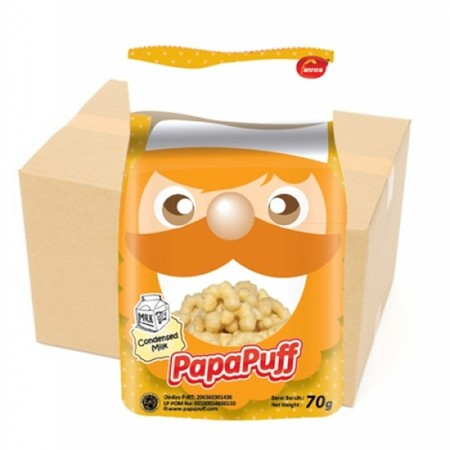 Papapuff is a delicious corn puffs made from the freshest corn, magically baked to perfection bu Papa cheft.