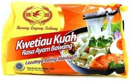 Kwetiau Kuah rasa ayam bawang. rasakan sensasi yang berbeda, karena ini bukan mie atau bihun melainkan kwetiau.