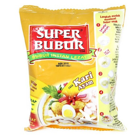 Super Bubur Made Of 100% Real Rice That Brings 100% Rice Benefit At Breakfast Time, Becoming The Good Basic To Support The Day.