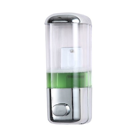 Liquid Soap Dispensers Material: ABS + PP  Capacity: 500ml Color: Chrome Dimensions: 85 * 85 * 230mm