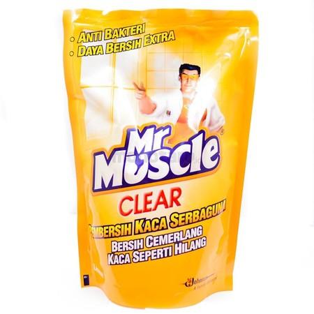 Mr. Muscle Clear Glass Liquid Lemon Pouch Pembersih Kaca Serbaguna 440 Ml. Dengan Mr Muscle Clear Glass, Noda Dan Debu Hilang Dalam Sekejap. Hunian Yang Bersih Dan Rapi Merupakan Hal Yang Diidam-Idamkan Setiap Orang. Karena Rumah Yang Bersih Dan Rapi Akan