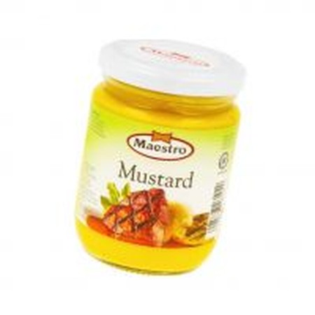 Mustard Sauce Is Prepared Using The Best Mustard Seed, Blended With Other Selected Ingredients. Maestro Mustard Sauce Add Flavor To Burgers, Hotdogs And Sandwiches. To Enrich The Taste Of Your Vegetables Salads, Fruits, And Various Other Dishes.