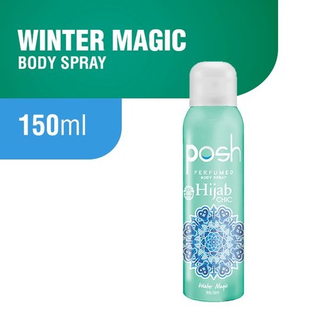 Posh Hijab Chic Winter Magic Perfumed Body Spray [150 mL] merupakan body spray yang punya perlindungan Anti bacterial untuk membunuh kuman penyebab bau badan dan wanginya tahan lama. Hari harimu pun akan nyaman dan fun terus.