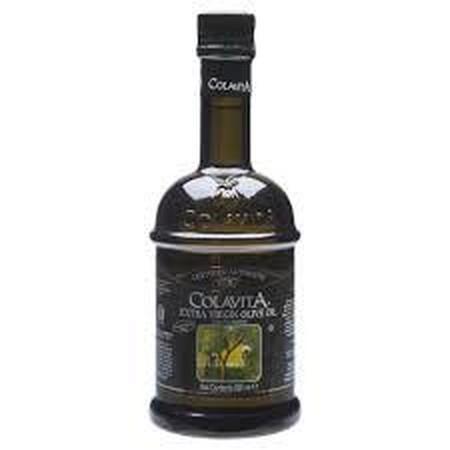 Minyak Zaitun Extra Virgin Olive Oil merek Colavita import langsung dari Italy, kemasan 500ml dalam botol kaca gelap sehingga meminimalkan minyak terpapar sinar matahari ataupun cahaya untuk menjaga kesegaran lebih lama