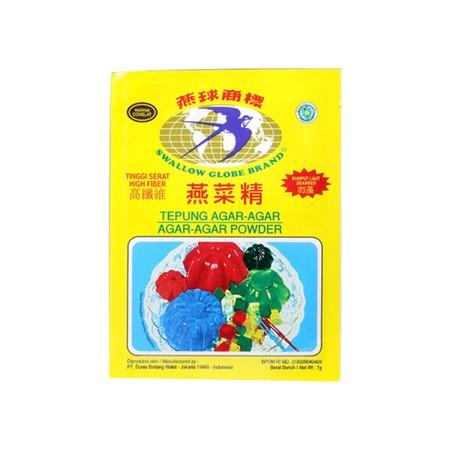 Swallow Globe Brand Agar Agar Coklat [7 g] merupakan agar-agar yang berserat tinggi, di olah dari sari rumput laut asli. Makanan yang baik untuk seluruh keluarga.