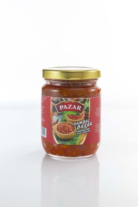 PAZAR Sambal Bajak [180 Gr] terbuat dari dari campuran bahan pilihan berkualitas terbaik dan diproses secara higienis sesuai standar keamanan pangan hingga menghasilkan rasa yang lezat dan 100% Halal.