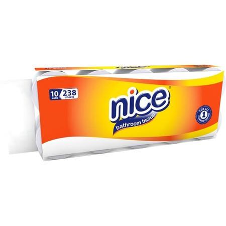 Nice Toilet Core Non Emboss 10 Rolls, Merupakan Tissue Yang Memiliki Daya Serap Tinggi, Didesain Halus Dan Lembut Serta Tidak Menimbulkan Iritasi Pada Kulit. Ideal Digunakan Untuk Di Rumah, Dikantor, Serta Pada Saat Berpergian.