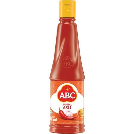 Abc Sambal Asli Kemasan Dalam Botol 275 Ml Dibuat Dari Cabai Pilihan Yang Dipetik Dikemas Seketika Untuk Rasa Yang Sangat Pedas.   Detail: - Lebih Pedas Dari Saus Sambal Lain - Terbuat Dari Cabai Segar Pilihan (Dipetik Hingga Dikemas Maksimal 51 Jam) - Sa