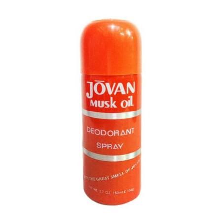 Jovan Musk Oil Deo Orange Body Spray Wanita [150 mL], deodorant spray yang memiliki aroma fresh serta dapat digunakan oleh wanita dan pria.