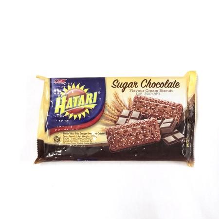 Hatari Sugar Chocolate Cream Merupakan Cemilan Biskuit Dengan Varian Rasa Krim Yang Nikmat.