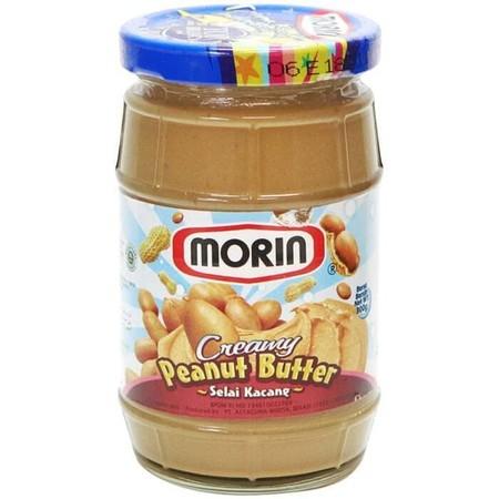 Morin Kacang Creamy Selai 300 G, Merupakan Selai Kacang Yang Terbuat Dari Kacang Tanah Pilihan Yang Disanggrai Serta Diolah Melalui Proses Modern Dan Higienis Untuk Menjamin Kualitas Selai Yang Terbaik Dikonsumsi Sehari-Hari. Selai Ini Memiliki Rasa Cream