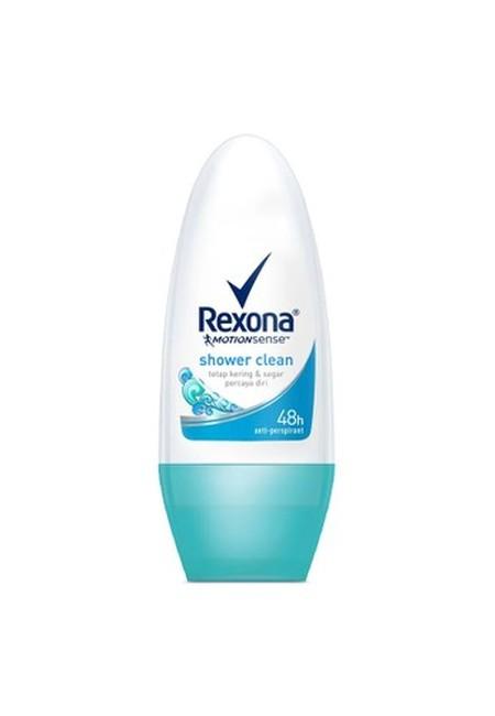 Bebas Bau Badan Seharian Dengan Menggunakan Rexona Women Anti-Perspirant Deo Roll-On Shower Clean 50Ml. Deodoran Ini Diformulasikan Khusus Untuk Wanita Aktif Agar Tetap Nyaman Melakukan Aktivitas Tanpa Ada Rasa Bau Yang Mengganggu.