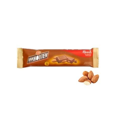 Van Houten Chunky Almond 30gr merupakan coklat premium yang lezat yang merupakan perpaduan cokelat dan kacang almond dengan kandungan susu. Sangat praktis untuk dikonsumsi dan memiliki nilai gizi yang tinggi.