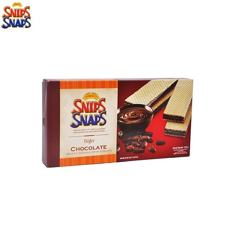 wafer renyah dengan rasa coklat manis yang lezat. dengan kandungan protein dan kalori yang cukup, sangat cocok mengganjal perut di saat lapar.