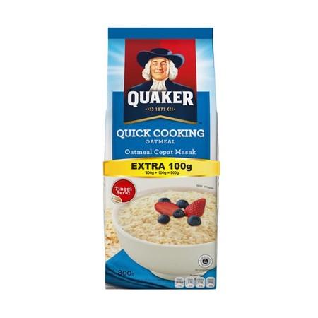 Oatmeal Cereal Quaker Terpecaya Menjadi Merk Oatmeal Nomor 1 Di Dunia Terbuat Dari 100% Oat Utuh Australia Dengan Kebaikan Oatmeal Tinggi Serat, Membantu Menurunkan Kadar Kolesterol, Darah Dan Menjaga Fungsi Saluran Pencernaan Sumber Serat Pangan Dan Ting