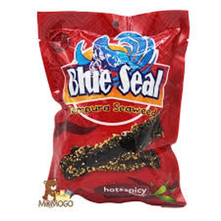 Blue Seal Tempura Seaweed Hot Spicy Adalah Keripik Rumput Laut Rasa Pedas.