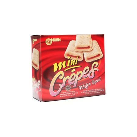 snack berbentuk mini crepes yang renyah dan lezat, dengan rasa yang original. Satu ga akan cukup!