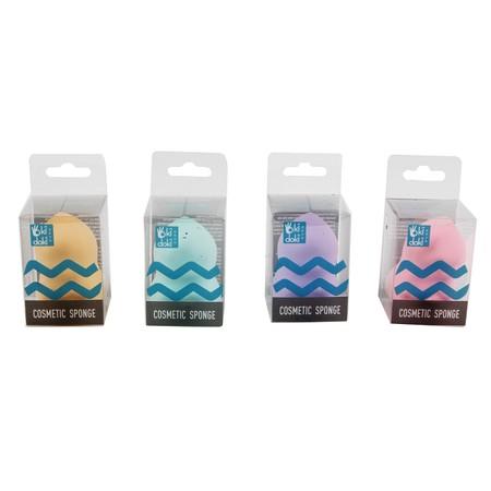 Alat untuk menciptakan airbrushed finished look yang halus.  Brand: OKIDOKI Color: Purple, Pink, Green, Cream Material: Sponge Product Size: 4.6X4.6X4.6CM