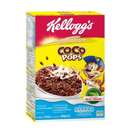Kellogg'S Coco Pops Sereal [220 G] Merupakan Sereal Terbuat Dari Beras Berkualitas Dan Kakao Asli Untuk Sarapan Pagi Yang Lezat Dan Renyah. Sereal Ini Berisi 8 Nutrisi Penting (Vitamin A, B1, B2, B3, B6, B9, C, Dan Zat Besi) Untuk Kebutuhan Tubuh. Jadi Ti