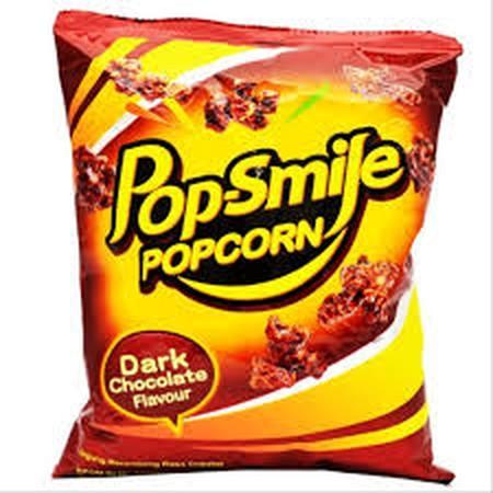 Pop Smile Popcorn Dark Chocolate 60Gr Merupakan Berondong Jagung Yang Dibuat Dengan Bahan-Bahan Berkualitas Tinggi.