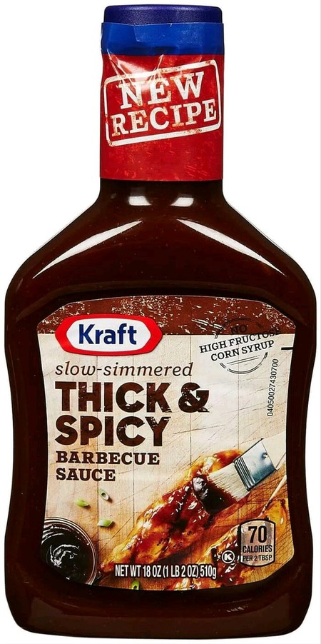 KRAFT Thick & Spicy BBQ Sauce's chili and black pepper spices provide this thick sauce with a spicy flavor profile to give a kick to applications. It requires no preparation, so it's ready when you are. The 1 gallon jug is perfect to have in back of house