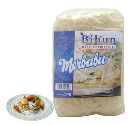 Bihun terbuat dari tepung beras. Dapat digunakan untuk berbagai macam makanan