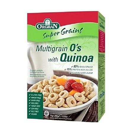Orgran Multigrain O'S With Quinoa Merupakan Sereal Yang Ideal Untuk Sarapan Pagi. Tinggi Serat Dan Rendah Gula, Dapat Menyediakan Energi Yang Memadai Untuk Seharian. Orgran Multigrain O'S Quinoa Adalah Superfood Untuk Sarapan Yang Mengandung 80 % Serat, 1