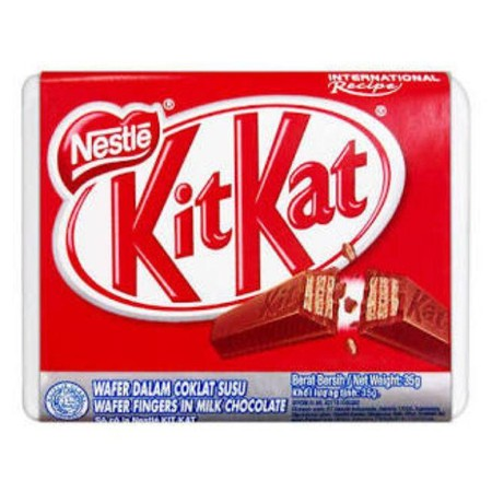 Kit Kat Chocolate 4F 35Gr Kit Kat Chocolate 4F 35Gr Merupakan Salah Satu Varian Coklat Kit Kat Dalam Bentuk 4 Bar Yang Unik Atau Lebih Dikenal Dengan Sebutan 4 Fingers Yang Mudah Dipatahkan. Terbuat Dari Coklat Dan Bahan-Bahan Pilihan Dan Diproses Serta