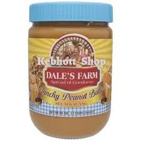 DaleS Farm Crunchy Peanut Butter Selai Kacang [250 G] Adalah Selai Kacang Yang Terbuat Dari Bahan-Bahan Terbaik Sehingga Nyaman Dan Enak Untuk Dinikmati. Selai Kacang Peanut Butter DaleS Farm Ini Juga Kaya Akan Manfaat Seperti Menyehatkan Jantung Dan Ka