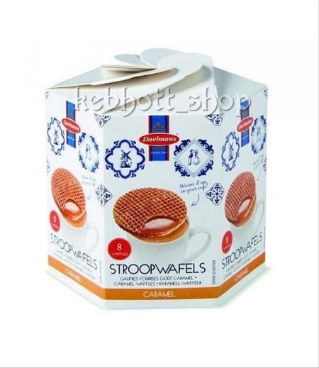Daelmans Bisc-Caramel Wafer in Box 230 gr waffeldengan lapis caramel (Stroopwafels) dengan aneka pilihan kemasan, cocok dimakan sambil minum teh. Wafels lapis caramel Caramel flavor yang superior. Dikemas dalam box. Import dari Netherland.