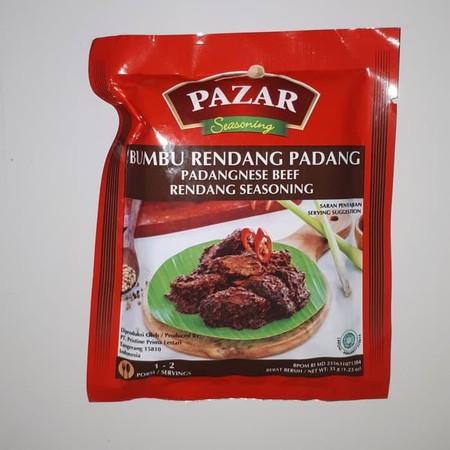 Pazar Bumbu Rendang Special adalah bumbu instant dalam bentuk pasta yang terbuat dari bahan-bahan alami berkualitas terbaik dan diproses secara higienis sesuai standar keamanan pangan hingga menghasilkan rasa yang lezat dan 100% Halal.
