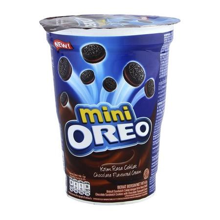 Oreo Indonesia dipersembahkan oleh Kraft sebagai biskuit sandwich yang terdiri dari dua biskuit Oreo dengan krim stroberi tebal yang lezat di tengahnya. Kini, Oreo hadir dengan ukuran mini yang dapat dinikmati sekali kunyah. Oreo Mini Strawberry 67g adala