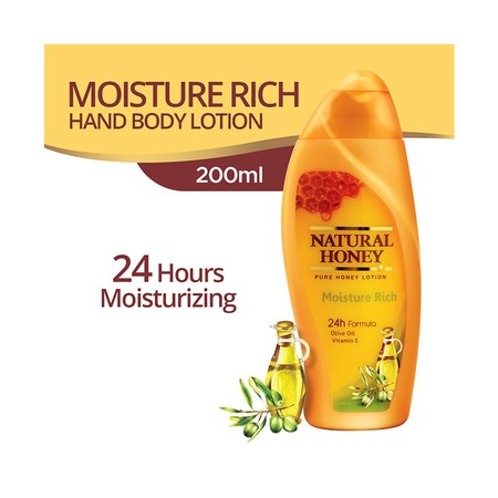Body Lotion mengandung madu dengan olive oil dan vitamin E.