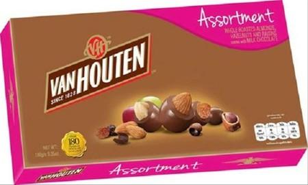 Van Houten Assortment 130gr merupakan coklat premium yang lezat. Sangat praktis untuk dikonsumsi dan memiliki nilai gizi yang tinggi.