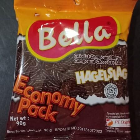 Bella Chocolate Hagel Coklat [90 Gr/Sachet] Merupakan Meises Dengan Rasa Cokelat Warna-Warni Yang Khas Dan Warna Yang Mengkilat, Cocok Untuk Dekorasi, Topping Dan Juga Filling. Meises Ini Terbuat Dari Bahan-Bahan Pilihan Yang Aman Dikonsumsi.